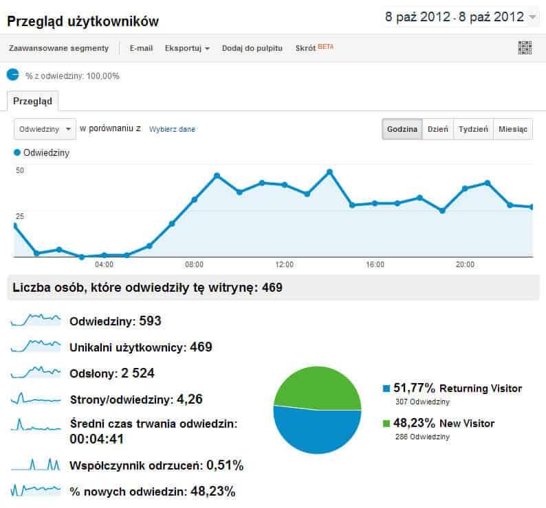 Dzienne statystyki ruchu na blogu