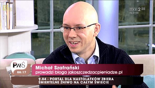 Michał Szafrański w TVP2
