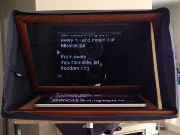 Prompter domowej roboty - ekran