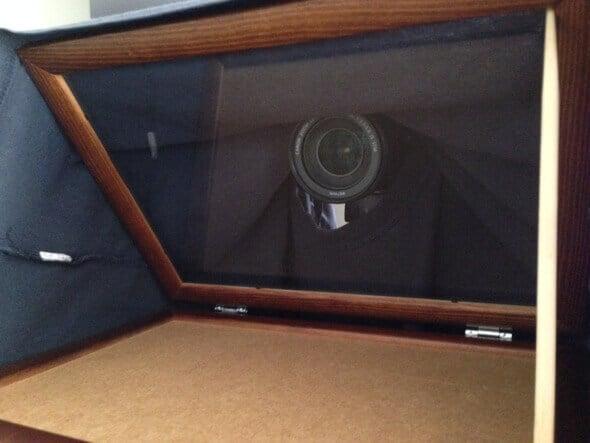 Prompter domowej roboty - kamera