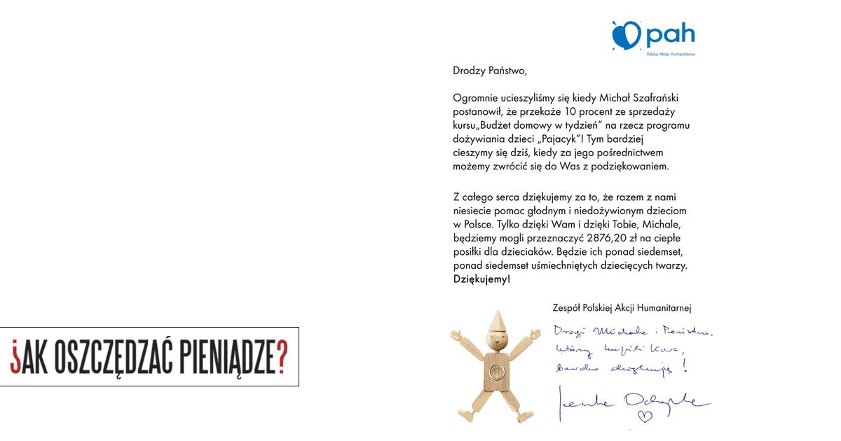List z Pajacyka