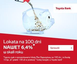 Przeczytaj o promocji Toyota Bank