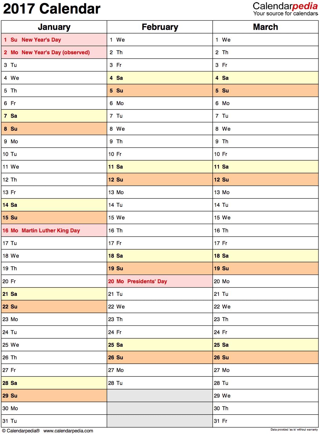 Kalender plan roczny kwartalny
