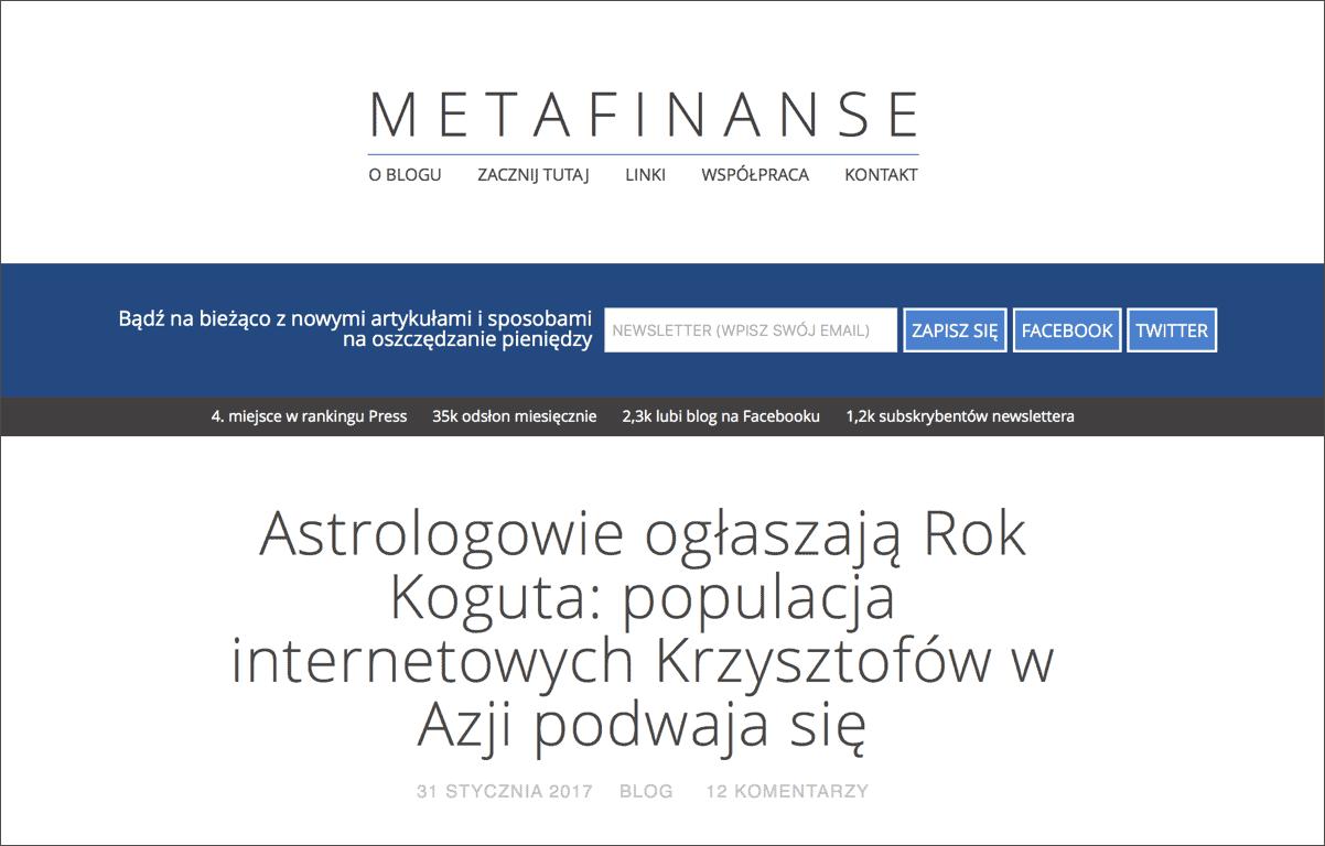 MetaFinanse