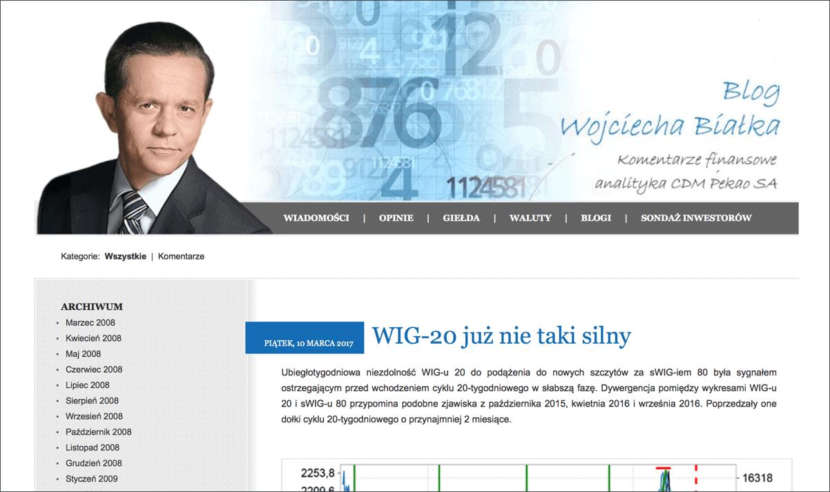 Blog Wojciecha Białka