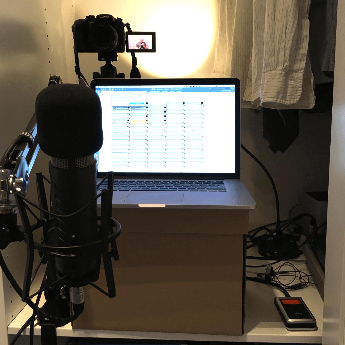 Studio w szafie