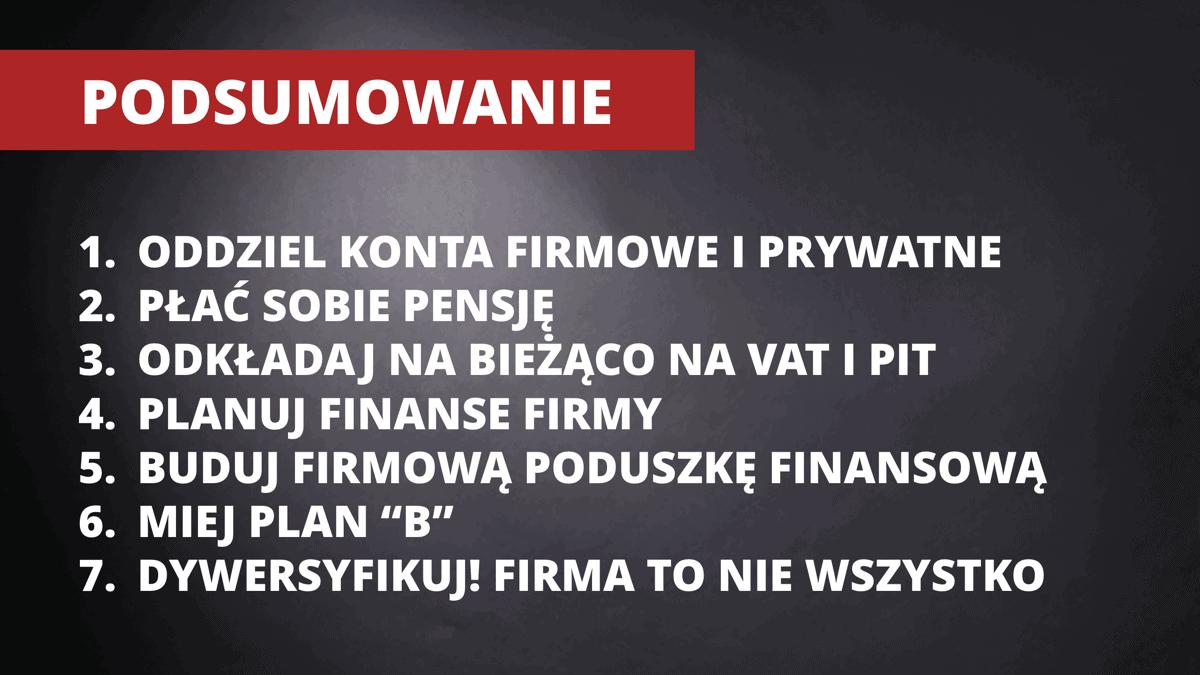 Zasady finanse firmy