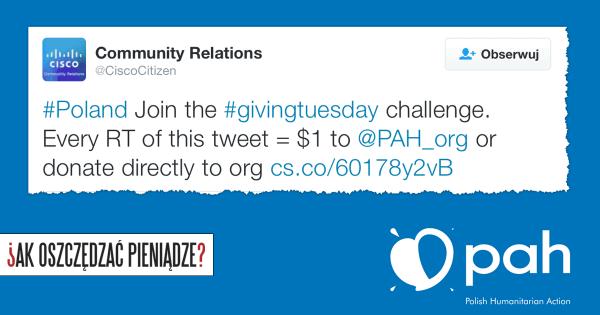 Thumbnail image for Dziś pomagamy na cudzy koszt! #GivingTuesday dla PAH i inne okazje do pomocy Pajacykowi