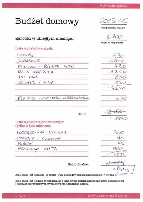 Budżet domowy 3
