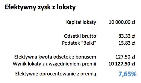 Lokata na Start - 10 000 zł