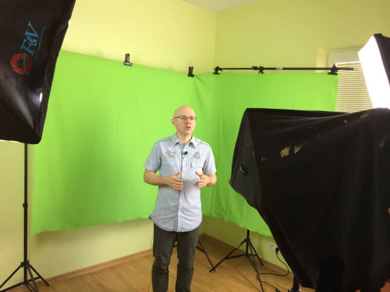 Byle się nie pomylić - domowe studio wideo Michała