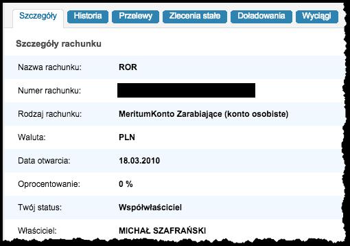 Konto w Meritum Bank