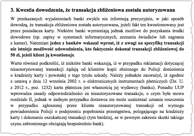 Dowodzenie transakcji zbliżeniowej