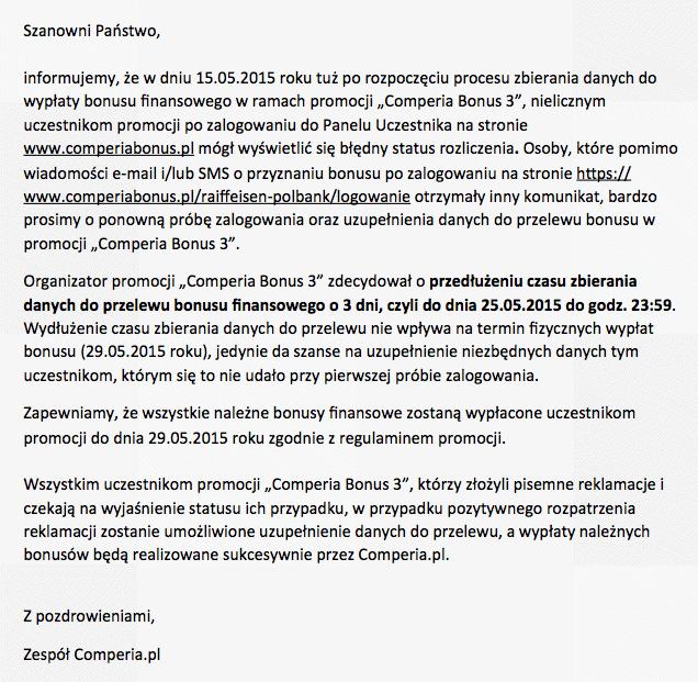 Oświadczenie Comperia