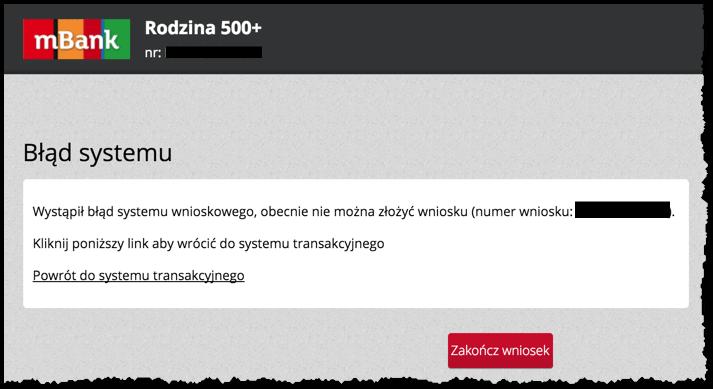 mBank Rodzina 500+