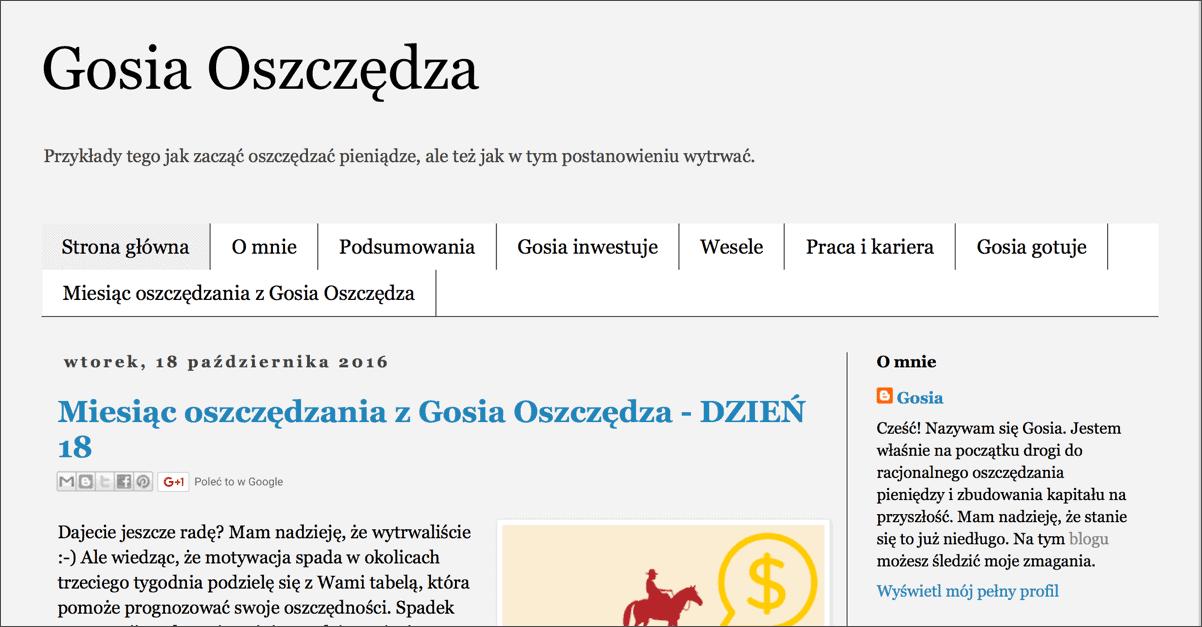 Gosia Oszczędza