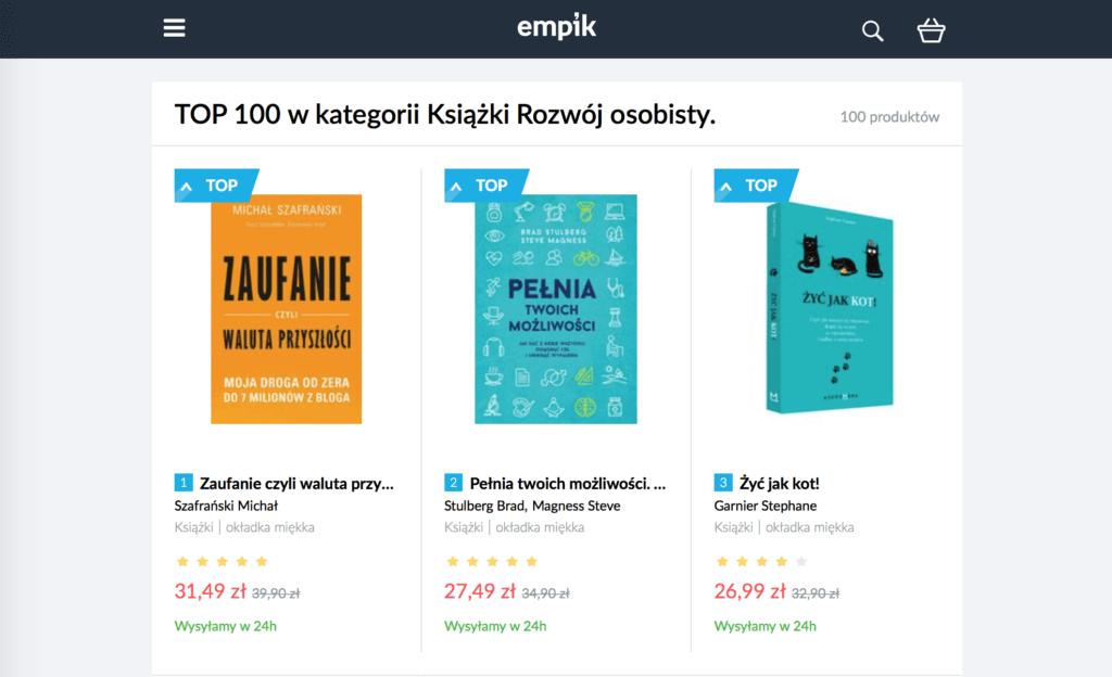 Zaufanie czyli bestseller Empiku