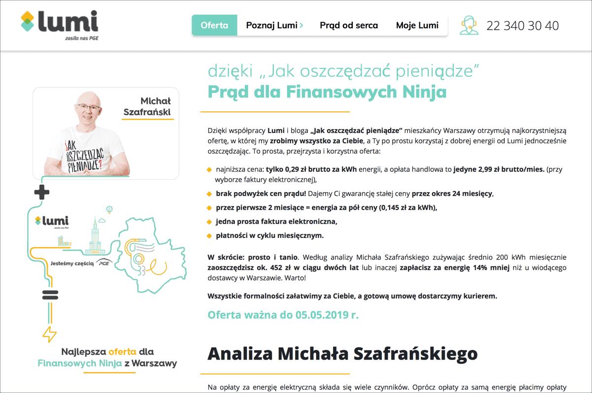 Prąd dla Finansowych Ninja