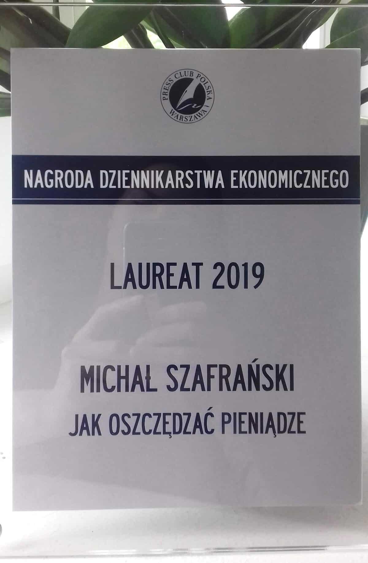 Nagroda dziennikarstwa ekonomicznego 2019