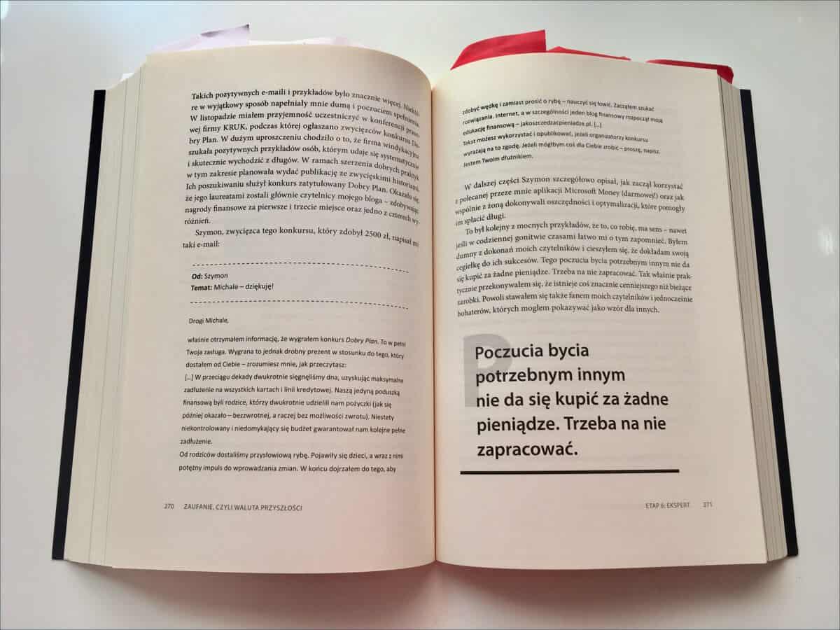Ramka skład książki
