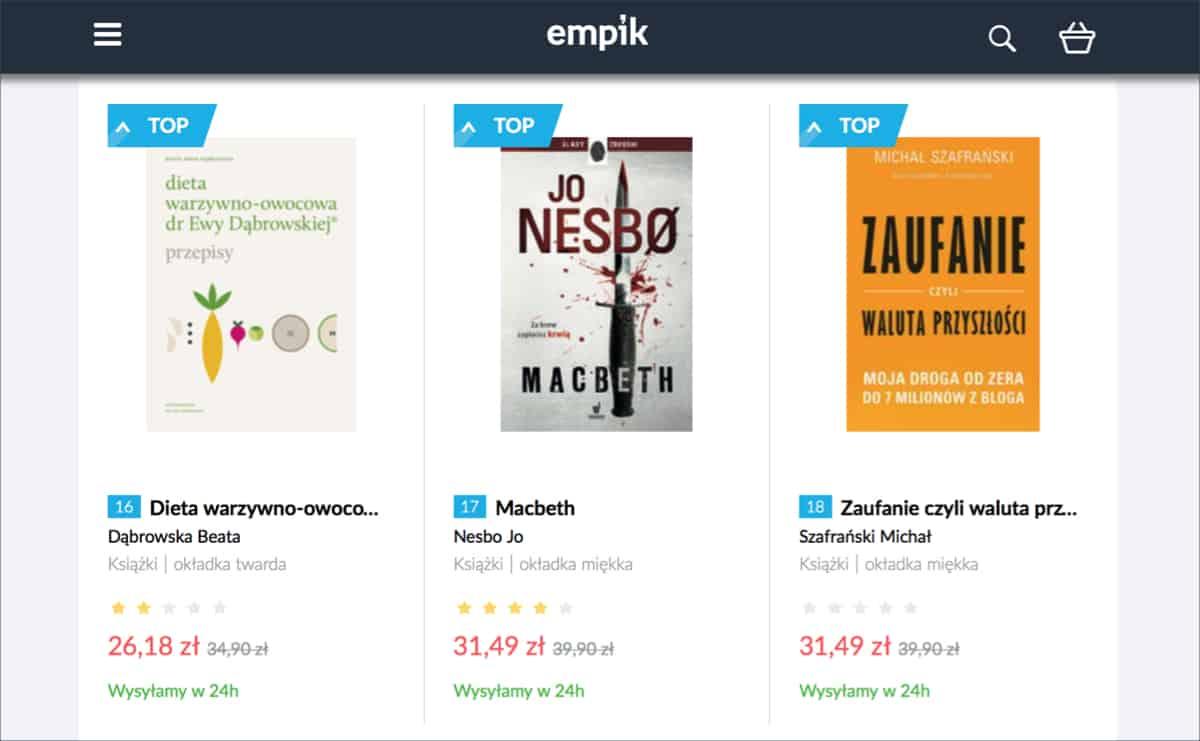 Bestseller Empik