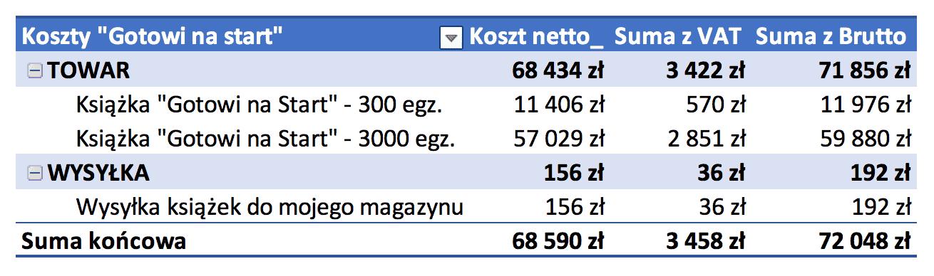 Koszty GNS