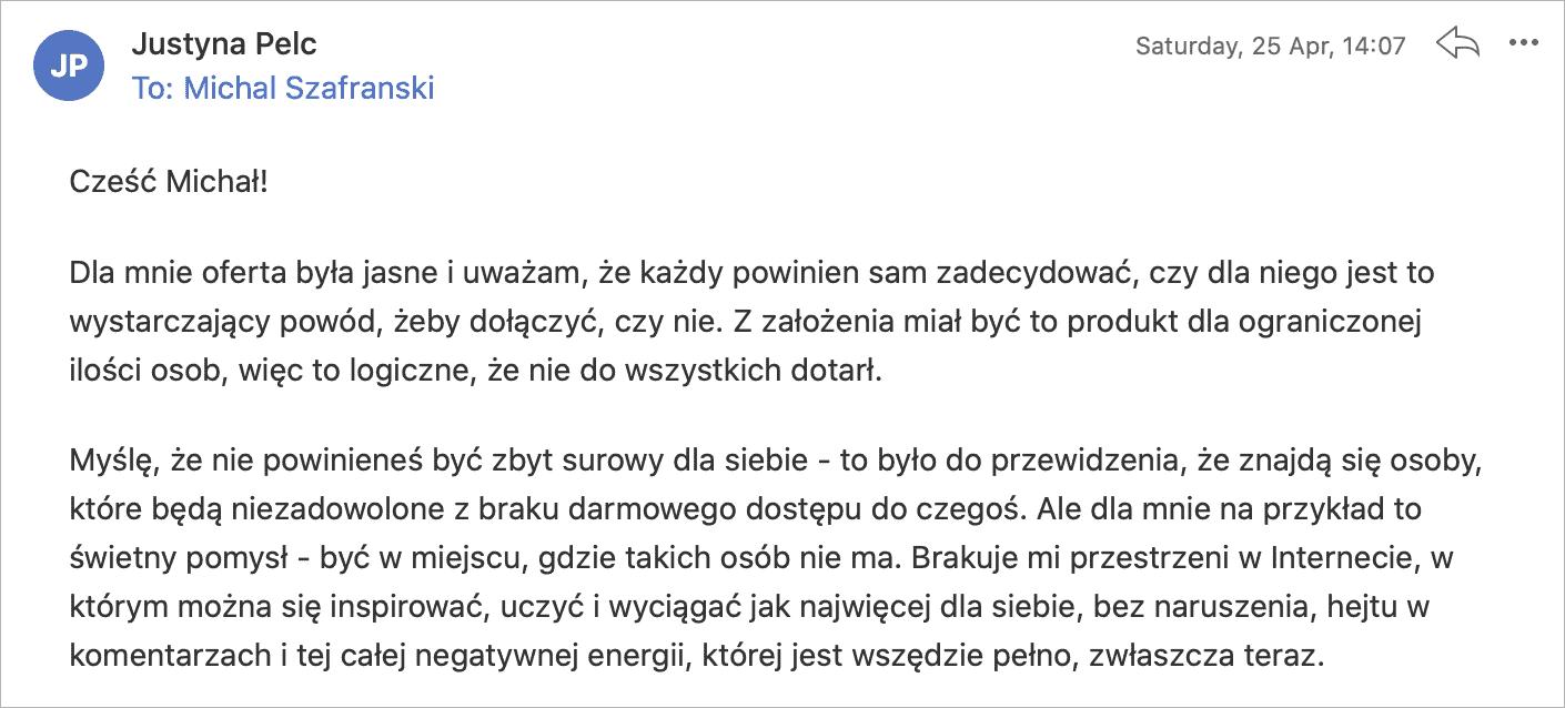 Justyna - opinia