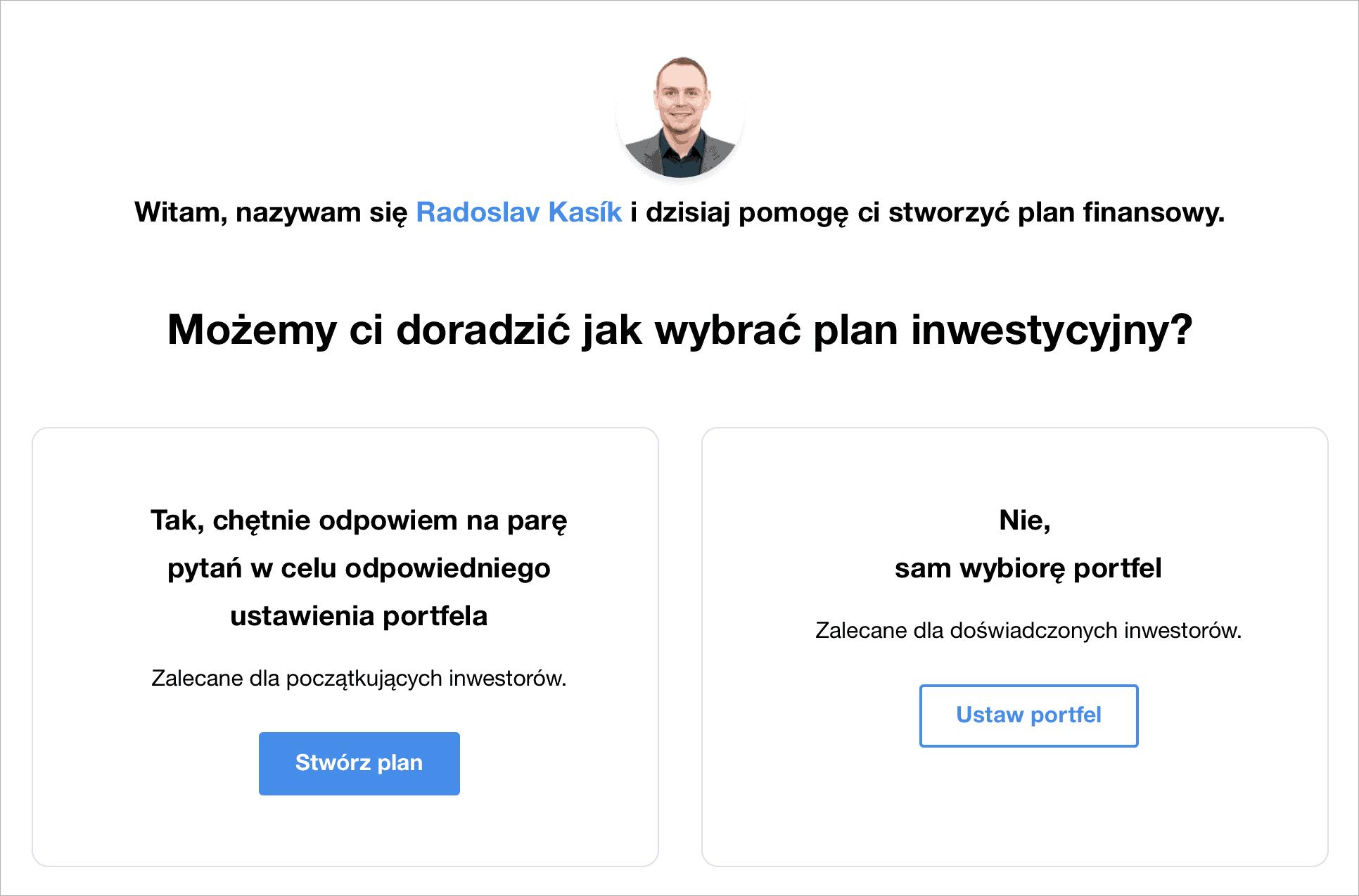 Jak wybrać plan inwestycyjny