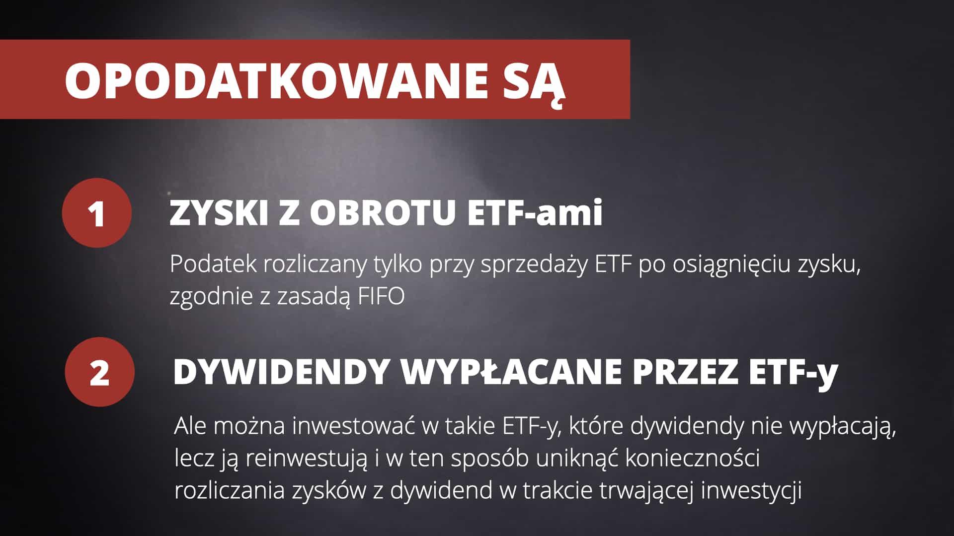 Podatki inwestowanie ETF