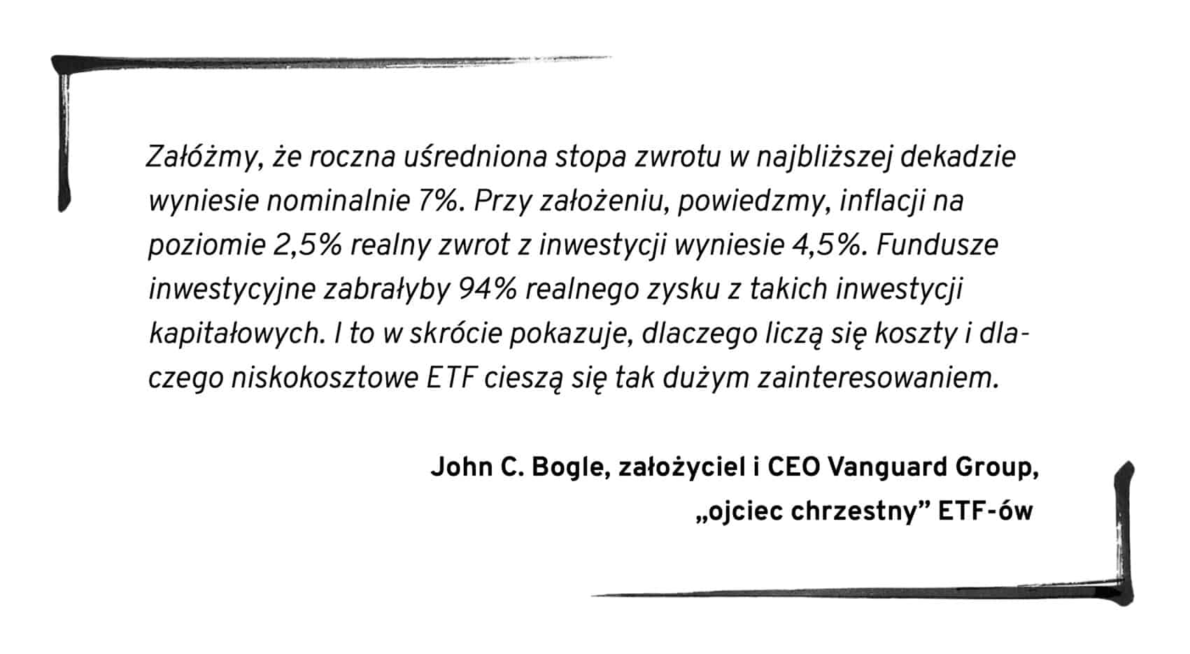 jak inwestować John C Bogle
