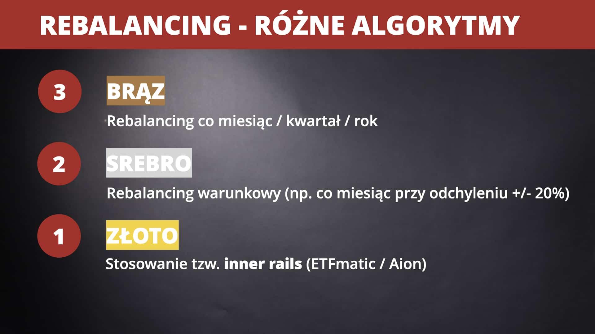 Trzy sposoby rebalancingu