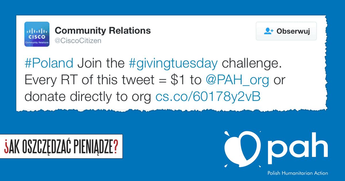 PAH i Cisco - Giving Tuesday
